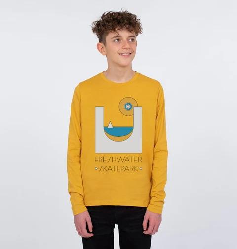 Freshwater Skate Park Jumper in yellow